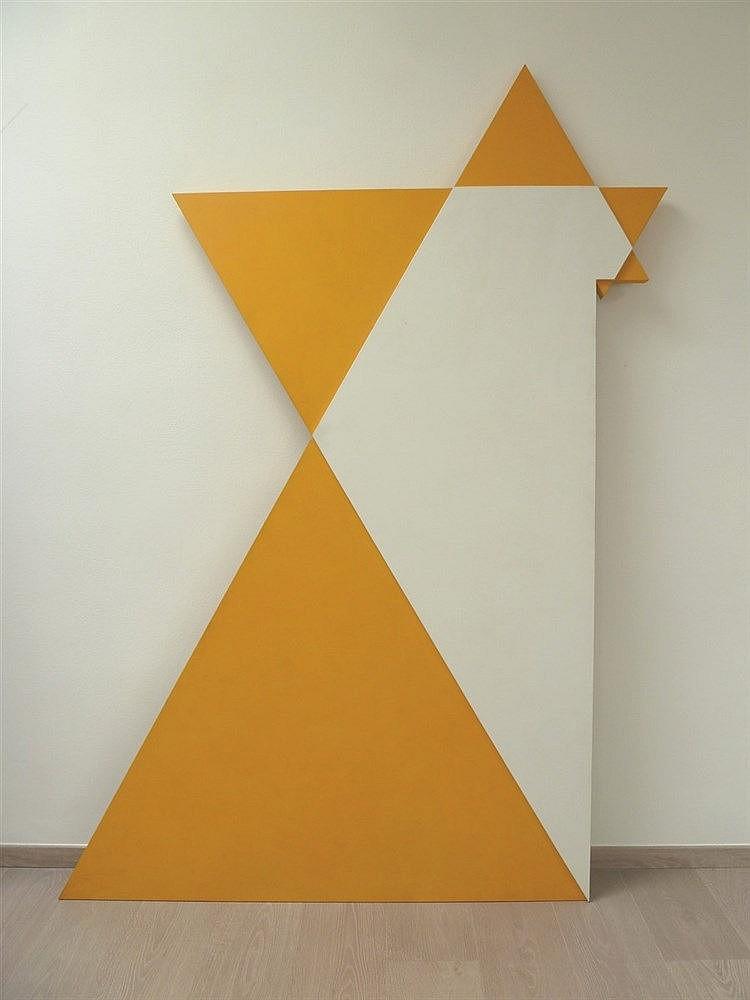 Janos SAXON SZASZ (Né en 1964)  L'étoile de Poly-D, 2004  Acrylique sur toile marouflée sur panneau, signé, daté et titré au dos  202 x 132 cm  Provenance :  Collection particulière, Paris