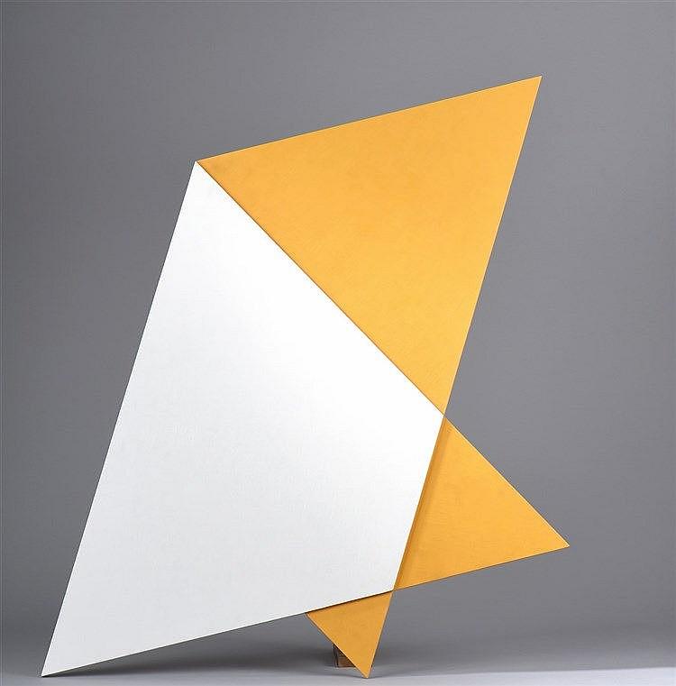 Janos SAXON SZASZ (Né en 1964)  Poly -D3, 2004  Acrylique sur panneau, signé, daté et titré au dos  94 x 84 cm  Provenance :  Collection particulière, Paris
