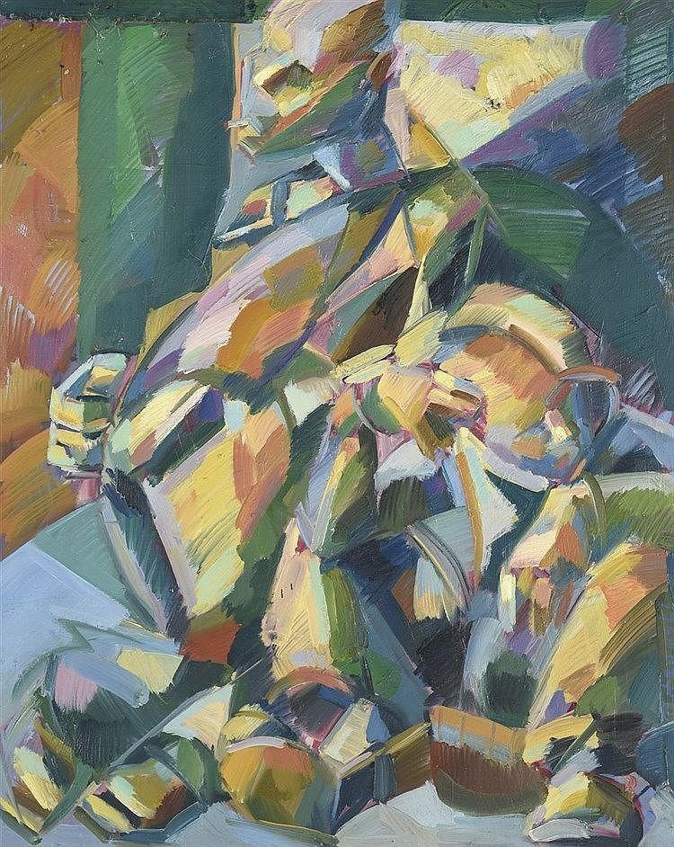 Marek piotrowski xx me si cle composition abstraite 1997 for Toile abstraite