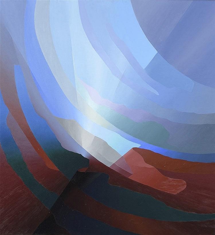 Robinson MORA MONTECINO (Né en 1947), école chilienne  Imagen CC, 2004  Huile sur toile, contresignée, titrée et datée au dos  120 x 112 cm