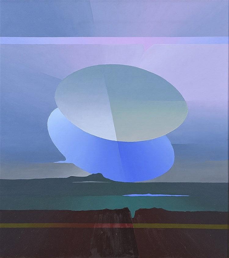 Robinson MORA MONTECINO(Né en 1947), école chilienne  Panorama CFR, 2005  Acrylique sur toile signée, titrée et datée au dos  75 x 67 cm