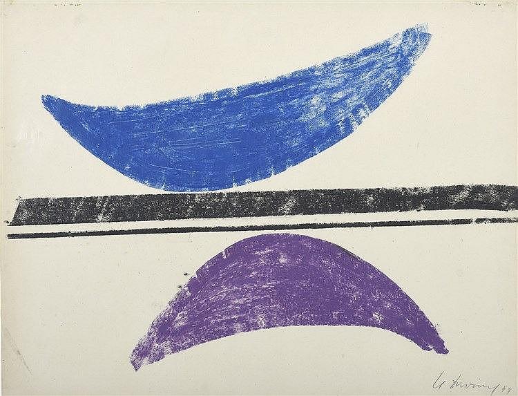 Henri DAVRING (1894-1970)  Composition, 1949  Pastel signé et daté en bas à droite   50 x 65 cm à vue