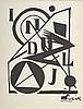 Lajos KASSAK (1887-1967)   Composition, 1921   Epreuve en linotypie sur papier, signé à l'encre en bas à droite. Monotype.  25 x 19 cm (9,75 x 7,41 in.)  Provenance : Galerie Denise René, Paris, Lajos Kassak, €2,000
