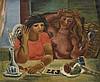 Louis LATAPIE (1891-1972) Jeunes filles à la toilette, 1926 Huile sur toile, signée et datée en haut à droite