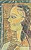 Louis Robert Arthur LATAPIE (1891-1972)  Femme de profil  Gouache sur papier maroulée sur toile, signée en bas au milieu  Titrée, signée et datée au dos  51 x 33 cm, Louis Robert Arthur Latapie, €800