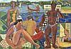 Louis Robert Arthur LATAPIE (1891-1972)  Les baigneurs  Huile sur toile, signée en bas à droite  74 x 105  cm , Louis Robert Arthur Latapie, €4,000