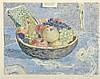 Pierre GRIMM(1898-1979)  Coupe de fruits  Lithographie sur papier signé en bas à droite  39 x 48 cm, Pierre Grimm, €50