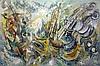Roger LERSY (1920-2004)   La Mer, Debussy   Huile sur panneau, signée et datée en bas à droite, 1989 .Titrée au dos   130 x 195 cm , Roger Lersy, €1,200
