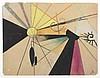 Georges KOSKAS (Né en 1922)  Composition, 1952   Gouache, pastel et crayon sur papier, monogrammé en bas droite  17, 5 x 21,5 cm , Georges Koskas, €800
