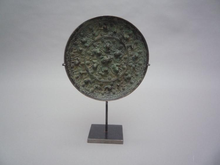 Miroir circulaire moul d 39 une composition de chim res de gra for Miroir circulaire