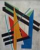 Oscar TRONECK (Actif au XXème siècle)  Composition géométrique  Hui, Oscar Troneck, Click for value