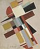 Oscar TRONECK (XXème siècle)  Composition géométrique  Huile sur to, Oscar Troneck, Click for value