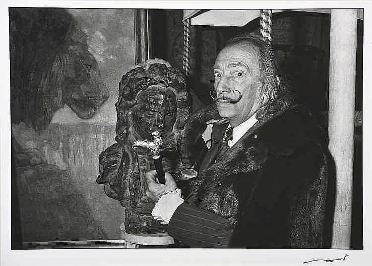 Bernard BARDINET (Né en 1947)  Salvador Dali ,Paris,1976  Tirage ar