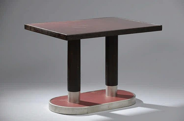 Thonet editeurs table de bistrot circa 1920 table rectangul - Table bistrot rectangulaire aluminium ...