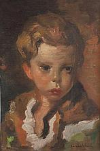 Luigi CORBELLINI (1901-1968) Portrait d'enfant Huile sur toile, s