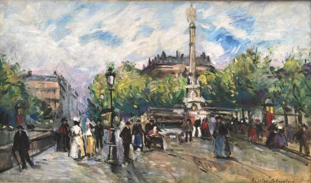Antoine BLANCHARD (1910-1988)  Place animée, Paris