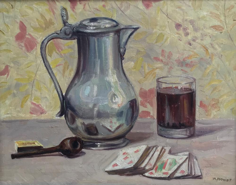 Marie HOWET (1897-1984)   Nature morte à la pipe
