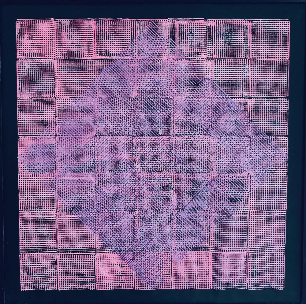 Monika BUCH (Née en 1936)  Composition abstraite,1993