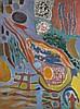 Lutka PINK (1906- 1998)  Composition, 1962  Huile sur toile, signée, Lutka Pink, Click for value