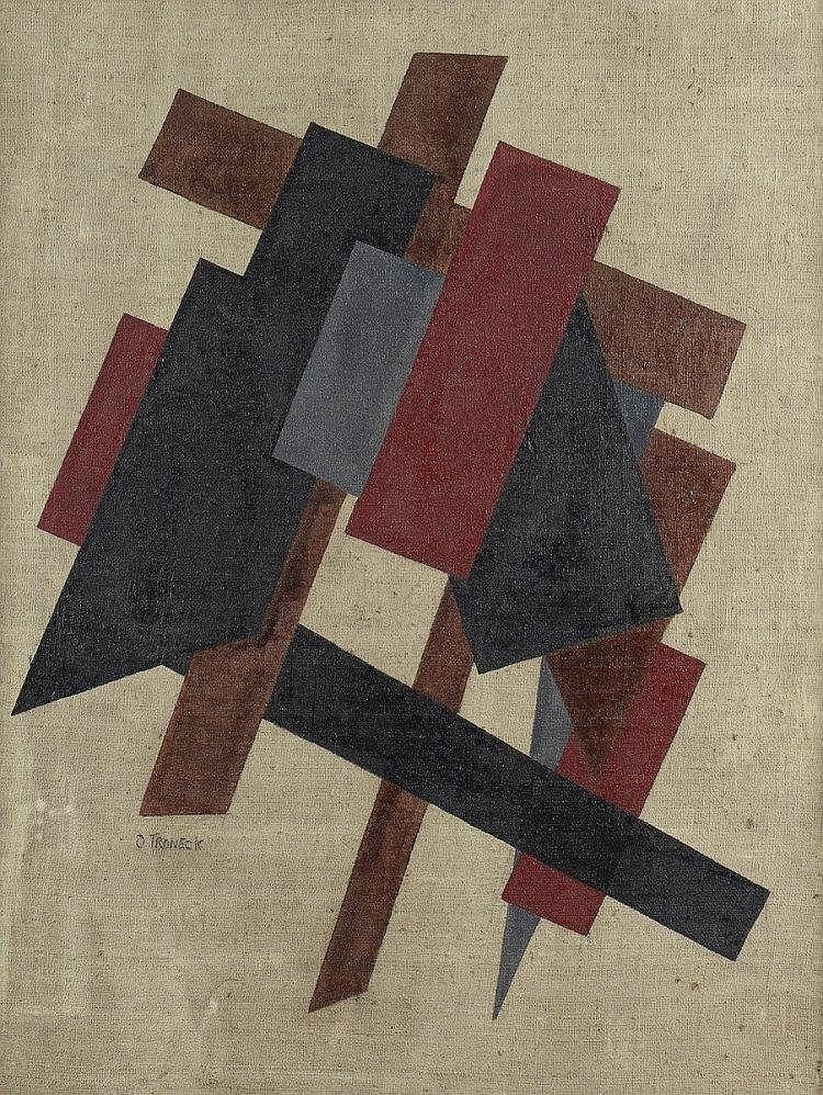 Oscar TRONECK (Actif au début du XXème siècle)  Composition géométrique