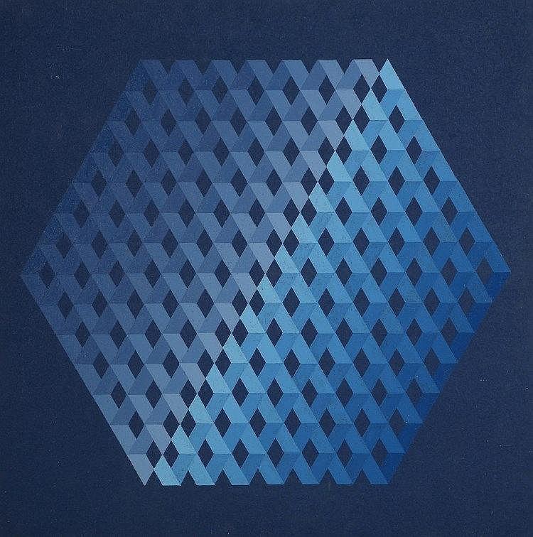 Monika BUCH (Née en 1936), Espagne  Composition cinétique,1975  Acr