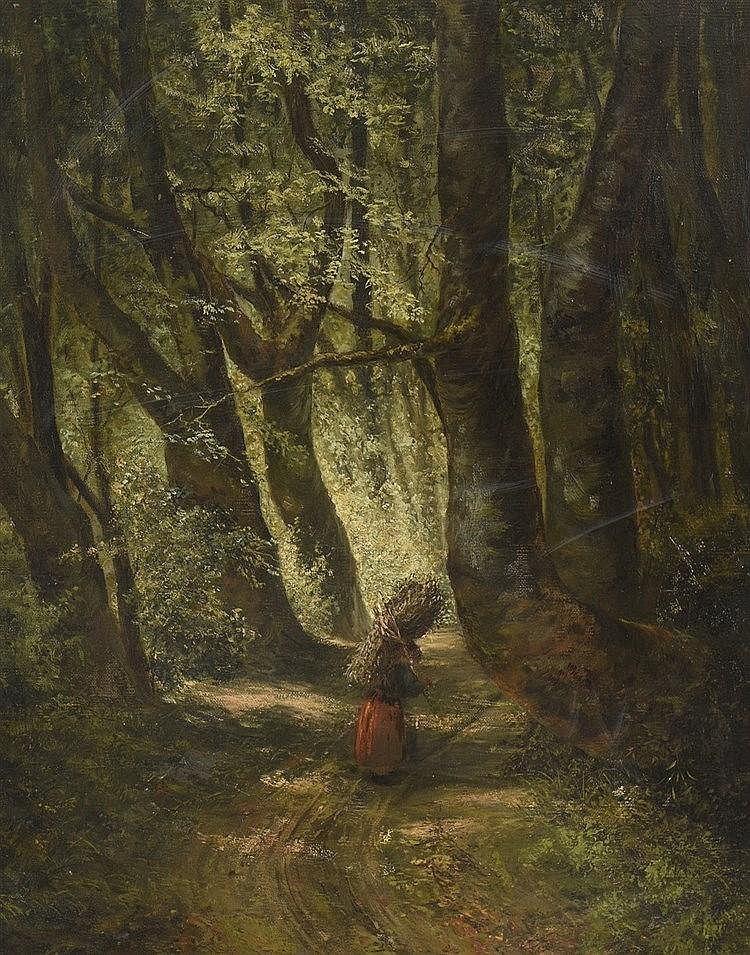 Grigoriy Grigorevich MJASOEDOV (1834-1911) Femme au fagot de bois dans une