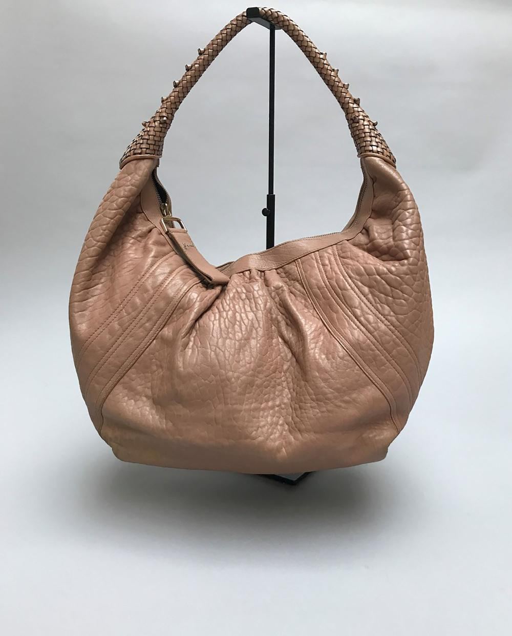 Upzitxwokl Rose Saumon Cuir Grainé Spy Fendi Grand En Sac XZuOkTPi