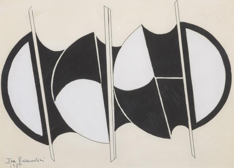 Ira BERNARDINI (Né en 1938)  Composition géométrique,1985