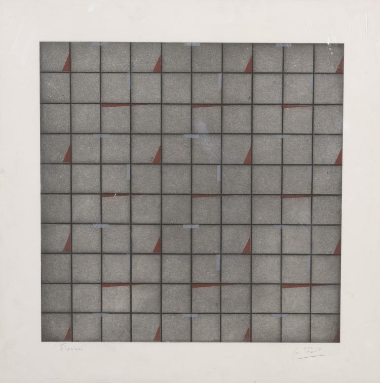 Maud PEAUÏT (1926-2012)  Flammes, série Trompe l'Oeil