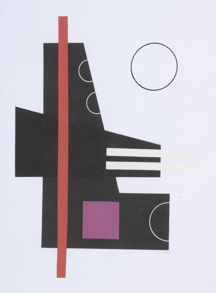 Jean BRANCHET (Né en 1934)   Composition géométrique