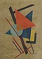 Oscar TRONECK (XXème) Composition géométrique, Oscar Troneck, Click for value