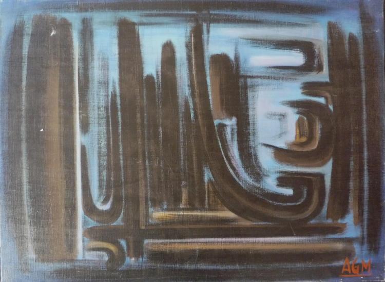 Alan-Gilbert MEAUCE (1907-1977)  Composition Automne,1973