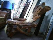 Huge Old Amazing American Antique Wooden Chair