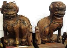 Large Old Important Chinese Foo Dogs of Beverly Hills