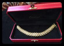Rare Cartier 18K Gold Watch w. 8.00ctw VVS-Diamonds 60gr (Certified & Appraised)