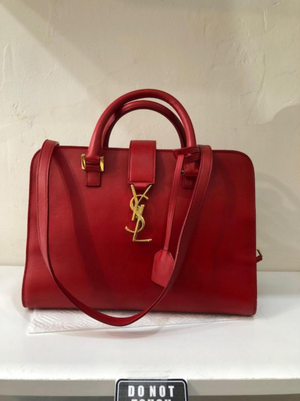 a965e46aeae2 YSL Red Leather 2018 Handbag
