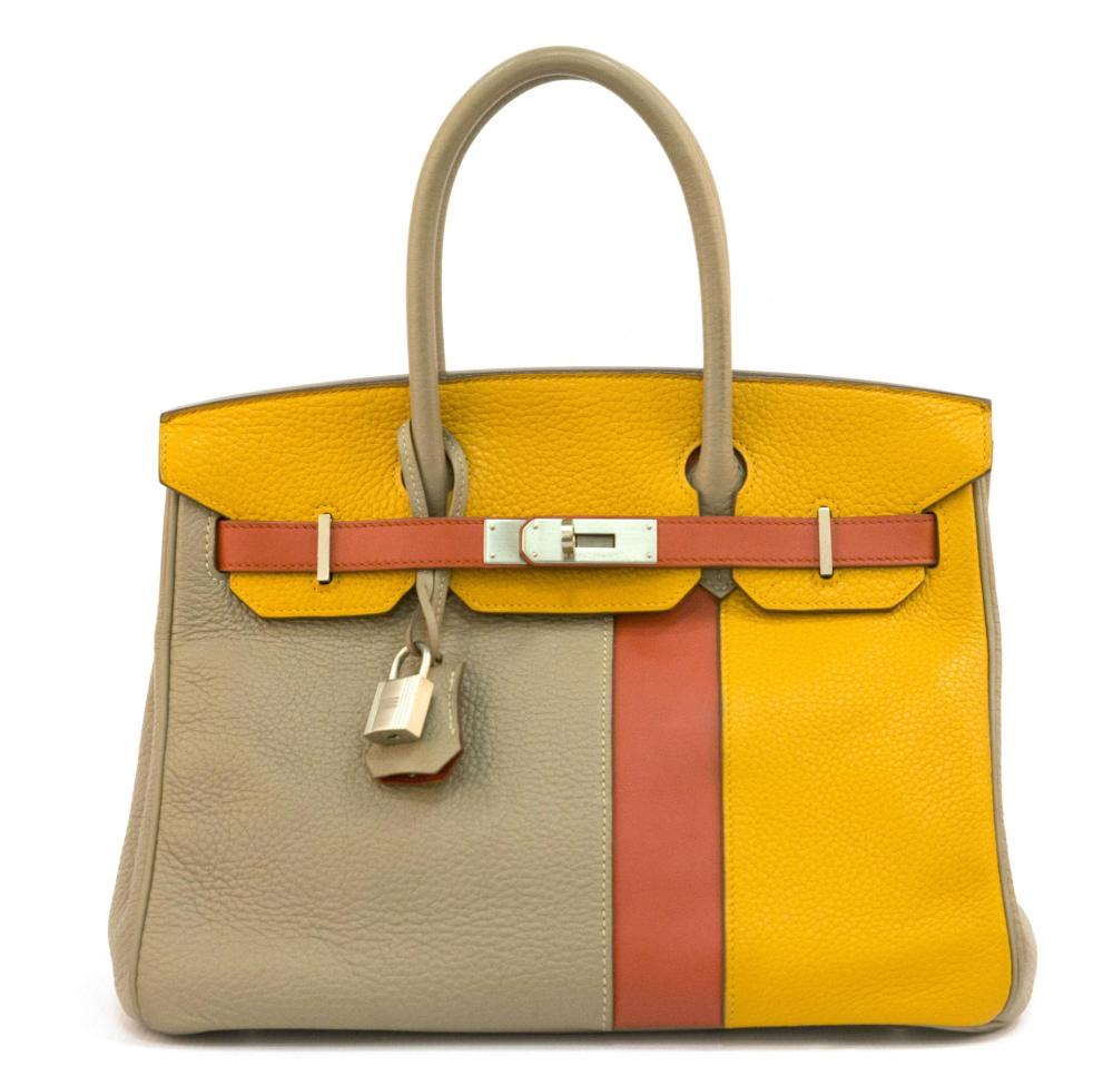 6655545fe7a Hermes Birkin 30 cm Handbag in Multi-Color Togo Leather