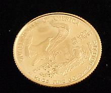GOLD COIN: 1/4 OZ MINTED c1997