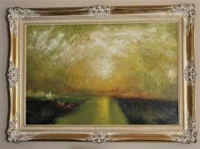 Original Oil on Canvas by Chong Hon Fatt c1970, 43x32