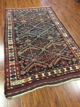 Antique Persian Bakhtiari Rug #348