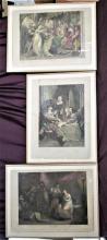Vintage Trio Set of Hamlet Shakespeare Prints