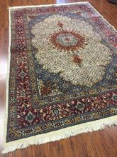 Antique Persian Birjand Rug (Mood w. Fish Design) #571