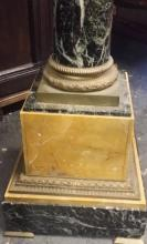 Antique c1880 French Ormolu MountsNeo-Clasical Gilt Marble Pedestal w. Swivel Top 46