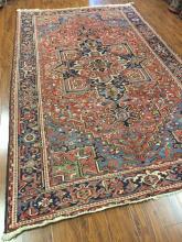 Antique Persian Heriz Rug #565