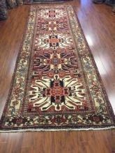 Antique Persian Heriz Rug #599