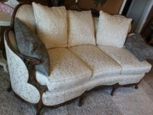 Antique Fine French Sofa Carved of Solid Wood 82x36