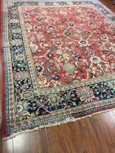 Antique Persian Mahal Rug #596