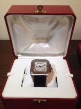Catier Watch Santos 100 XL Chronograph Mint Condition