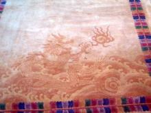 Old c1925 Fine xLG Chinese Rug w. Dragon Design 104x70