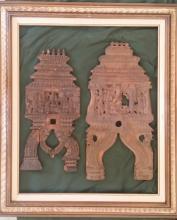 Ancient Framed Indian Temple Fragments: 20-18